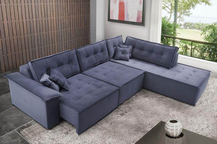 Resultado de imagem para sofa retratil de canto