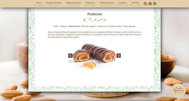 Página Web mazapanes Santa Ignacia