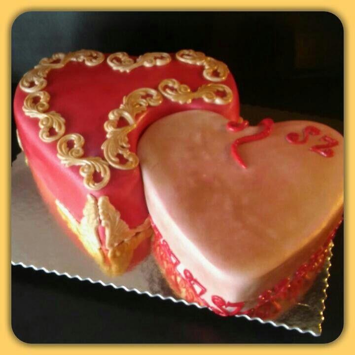Szív a szívben torta