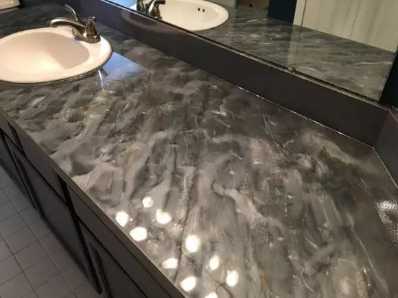 Marble Countertop Hack How To Tile Over Laminate Countertop Diy Kitchen Countertops Laminate Countertops Diy Countertops