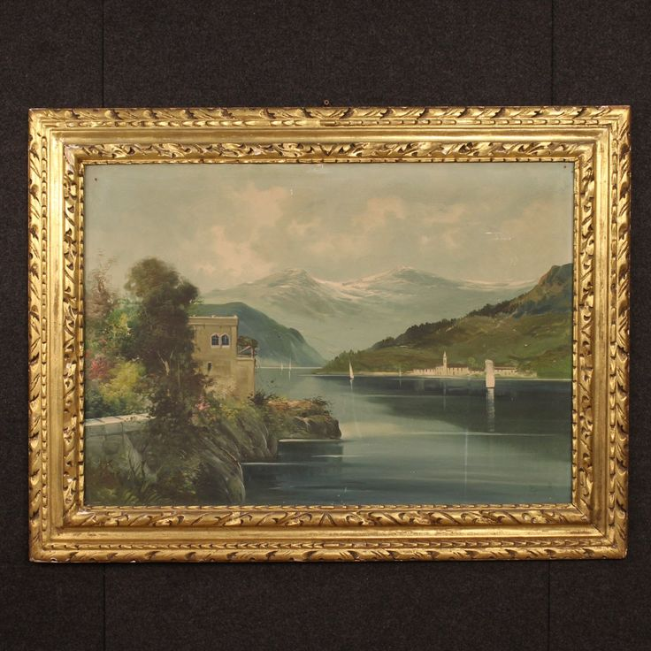 900€ Great Italian painting depicting Lake Como landscape. Visit our website www.parino.it #antiques #antiquariato #painting #art #antiquities #antiquario #canvas #oiloncanvas #landscape #quadro #dipinto #arte #tela #decorative #interiordesign #homedecoration #antiqueshop #antiquestore