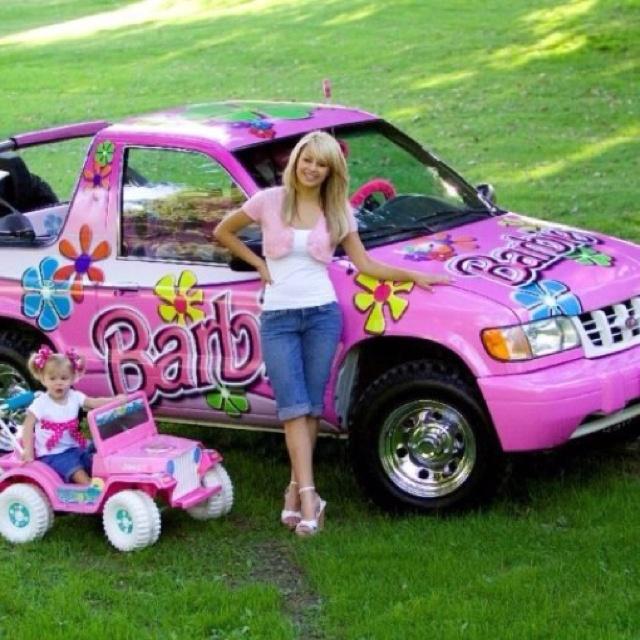 pink barbie car jeep tickle me pink pinterest barbie. Black Bedroom Furniture Sets. Home Design Ideas