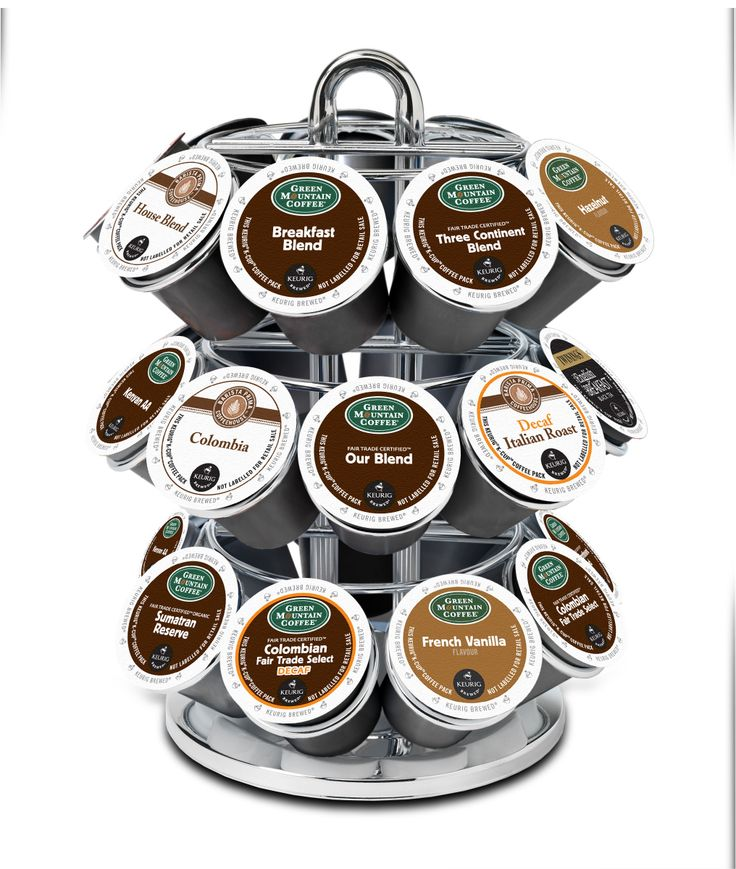Kcup coffee cup carousel holder green mountain coffee