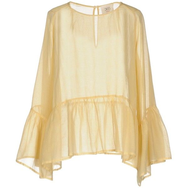 Jucca Blouse (425 BRL) ❤ liked on Polyvore featuring tops, blouses, ochre, beige blouse, beige long sleeve top, beige long sleeve blouse, jucca and long sleeve tops