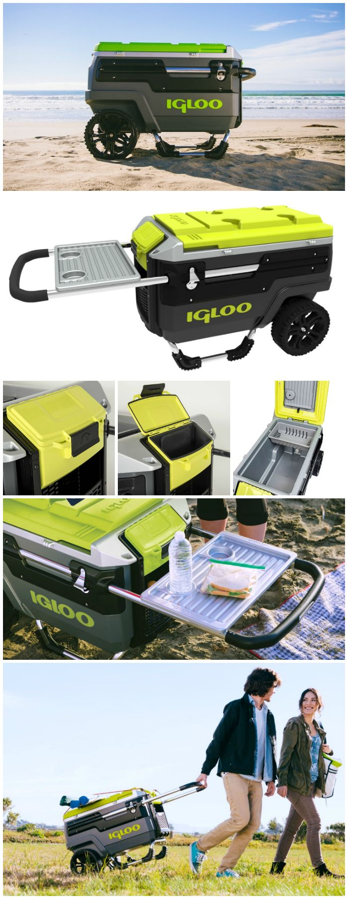 Party anywhere you want with the Igloo Trailmate all-terrain cooler, featuring the kind of built-tough mobility that can traverse in all kinds of conditions.