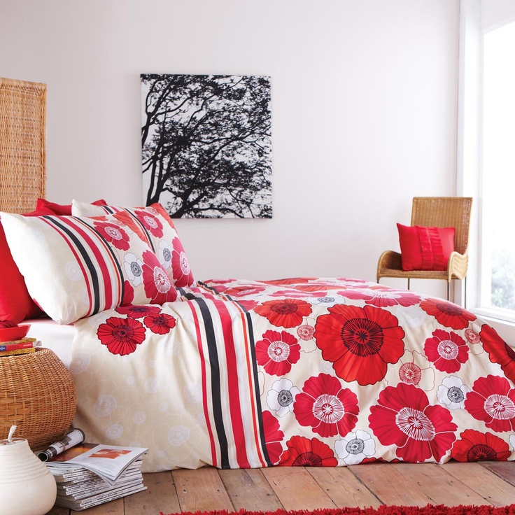 Make Your Bedtime More Enjoyable With This Pretty Graphite Poppy Duvet  Cover Set