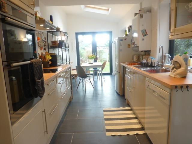 Galley kitchen extension - would have bifold doors