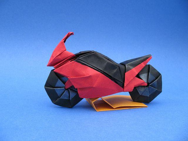 оригами мотоцикл картинки этой сцены без
