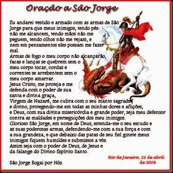 Salve São Jorge Guerreiro!