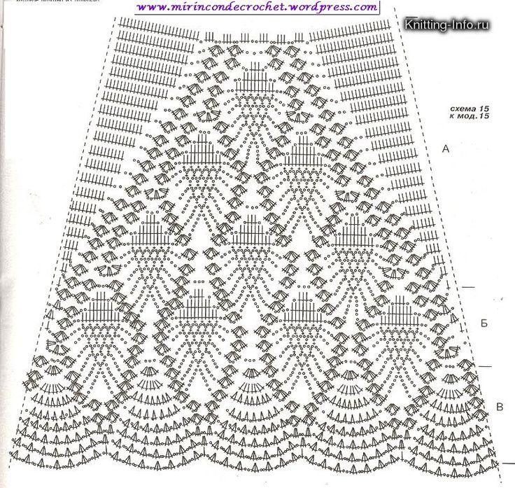 Muy bella falda… | Mi Rincon de Crochet