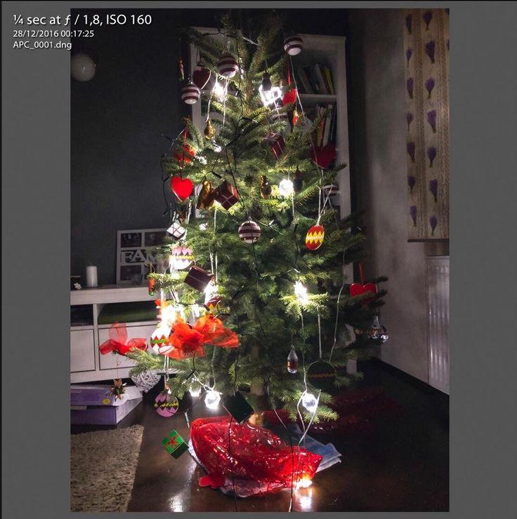 My first #DNG from #iPhone7Plus #christmastree #digitalnegative  Taken in #Trebic #Czech #notripod #longexposure #lowlight