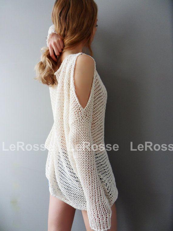 De gran tamaño/Slouchy knit sweater/túnica. Túnica de punto