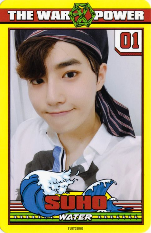 Suho - 170907 'The War: The Power of Music' album photocard  Credit: 명왕성.