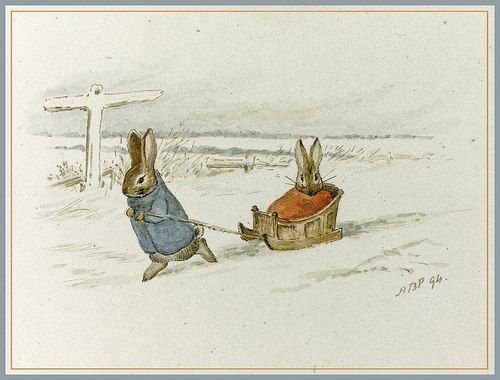 "pagewoman: "" Peter Rabbit : Bunnies in The Snow Beatrix Potter """