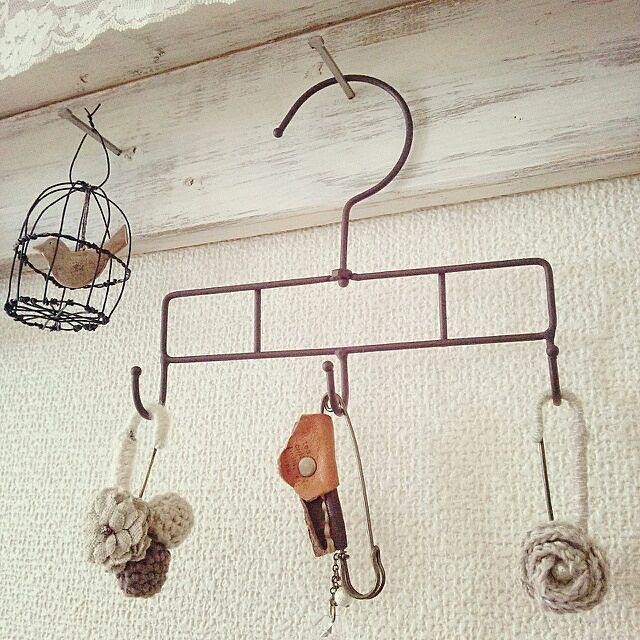 壁 天井 ワイヤークラフト キャンドゥ 手作り鳥カゴ ハンガーフック