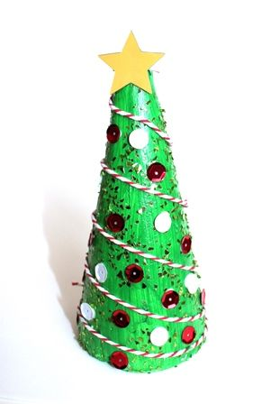 Add sparkle and shine to this DIY Christmas craft project using a decofoam cone. This project was made using Shamrock Craft materials.