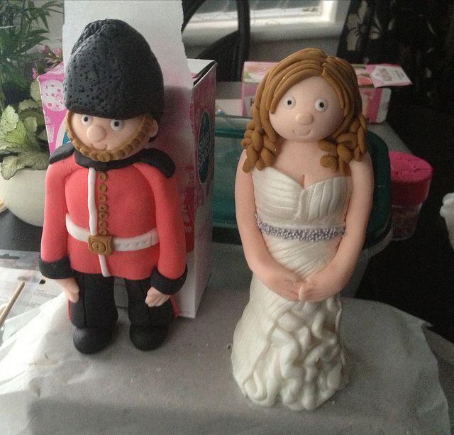 #QueensGuard & #Bride #Fondant #WeddingToppers
