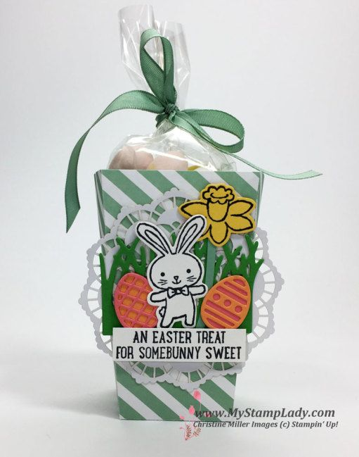Cute Basket Bunch Treats By Christine Miller Create Darling Easter Bunny Projects With The Bundle Popcorn Box Die
