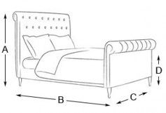 Blake Emperor Bed | The English Bed Company