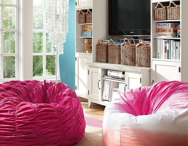 Perfect Bean Bag Chair Furniture U0026 Beadboard Dip Dye Lounge | PBteen