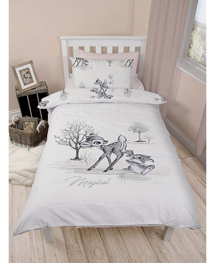 This official reversible Bambi Single Duvet Set has two enchanting designs featuring Bambi and Thumper. Free UK delivery available.