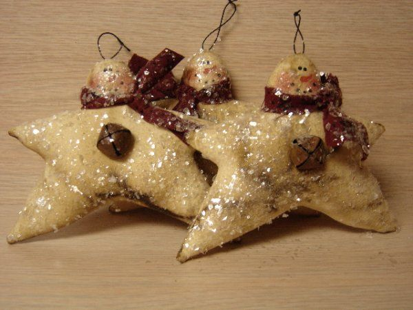 free images of christmas ornies to make | PatternMart.com ::. PatternMart: Prim Snowman Star Ornies