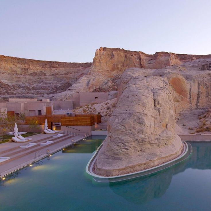 @amangiri is what we imagine holidays to Mars will look like a few hundred years from now  It's just one of the dreamy destinations you'll find in our list of the best desert hotels out there – see them all online now   #Regram via @suitcase