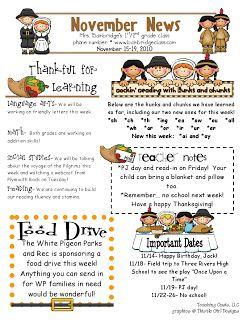 The 25+ best Preschool newsletter templates ideas on Pinterest ...