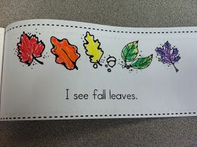 I see fall leaves booklet