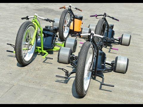 Motorized Drift Trike Custom Big Wheel - YouTube