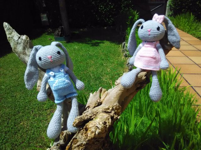 conejitos amigurumi de crochet