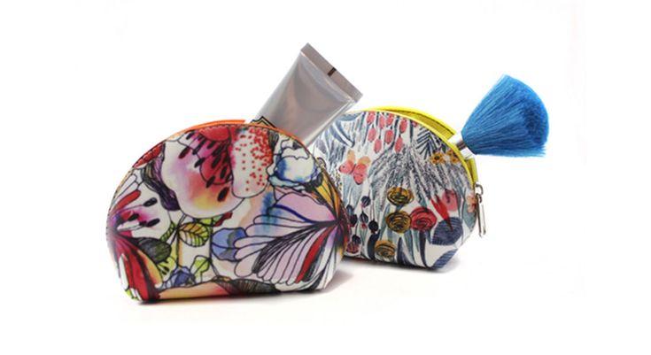 Personalize:Bolsa mini porta tudo em napa com forro de tnt