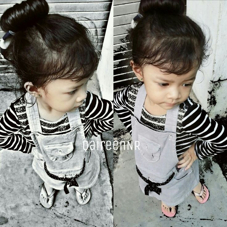 little girl with her style