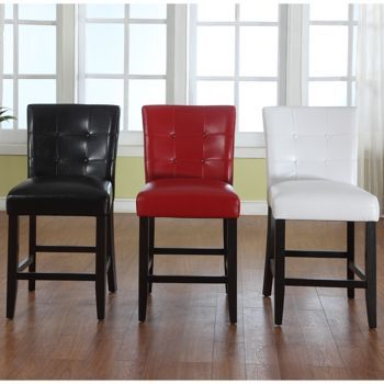 Great Costco: Barker Bonded Leather Counter Height Chairs 2 Pack