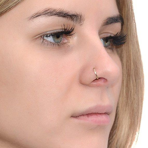 Heart Nose Stud 22g Gold Nose Piercing CHRISTMAS SALE Nose Jewelry