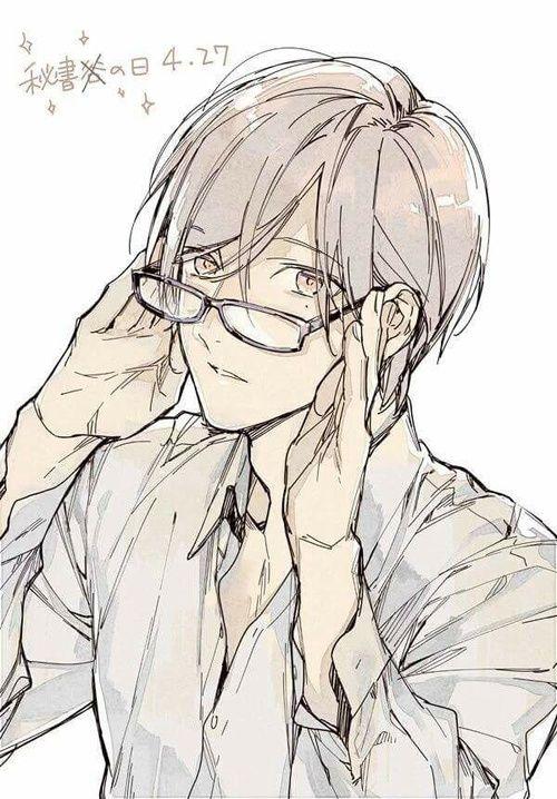 Megane Shirotani | Shirotani Tadomi | Ten Count | Rihito Takarai | From @twittakarai | Manga | Artwork | Illustration | Art | Yaoi | Bl