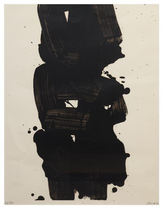 Pierre Soulages Litho 1969