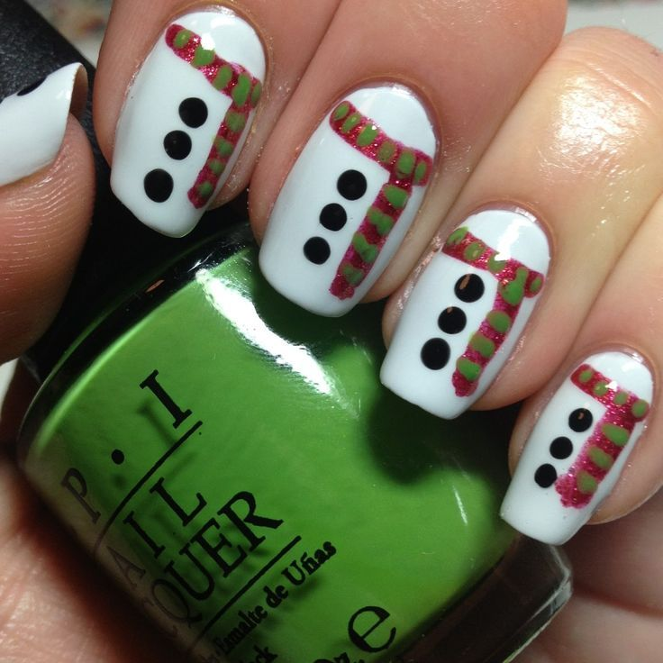Easy Holiday Nail Art: Best 305 Christmas Nails Images On Pinterest
