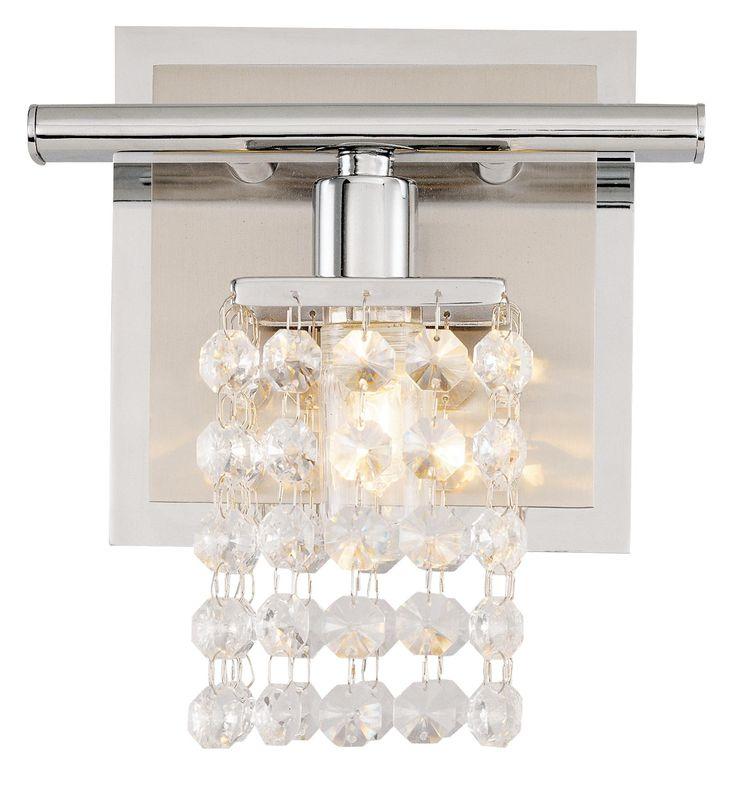 262 best interesting lighting images on pinterest - Crystal light fixtures for bathroom ...
