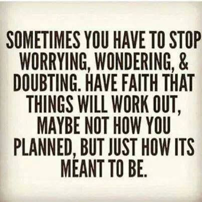 Plan but never have the plan so defined that when it comes to fruition and it is not perfect, you cannot be content.