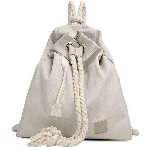 Sailorwoman's Delight – Runaway Bags    The classic white version of our high end drawstring backpack.