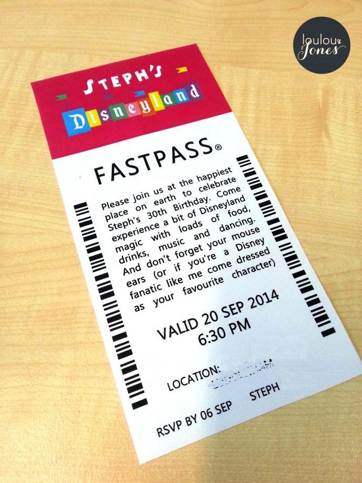 Stephs Disneyland Party Invitation via Loulou and Jones