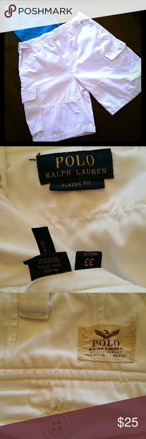 Polo shorts for men Polo shorts, men size 33, 6 pocket cargo shorts Polo by Ralph Lauren Shorts Cargo