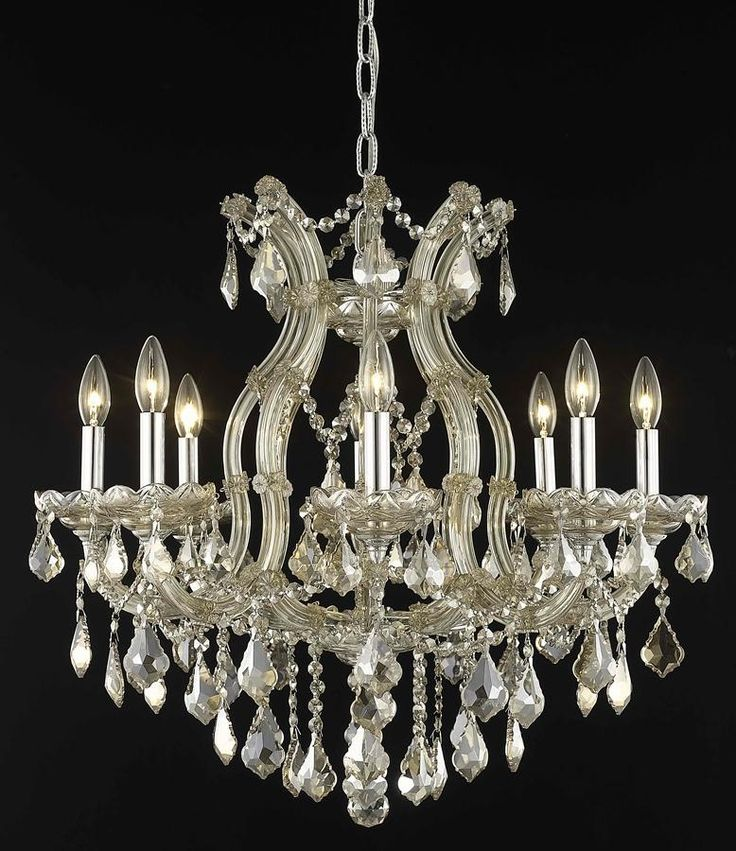 Elegant Lighting Maria Theresa Golden Teak Nine