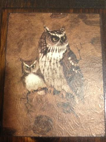 Richard Hinger  One sold for $25 GREAT RETRO PRINT OF SCREECH OWLS GREAT VINTAGE CONDITION WITH A FEW SMALL SCRATCHES. ONE THE BACK IS 148.1 IN BLACK MARKER. THE LITHOGRAPH IS SIGNED BY RICHARD. MEASUREMENTS ARE 8 1/4  X 7 1/4 , WIT