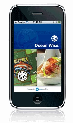 Ocean Wise iPhone App: Canadians looking to make smart, sustainable seafood choices are encouraged to use the Ocean Wise iPhone application