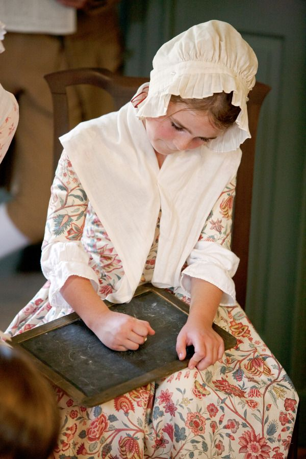 "Young Historical Interpreter at Powell House, Colonial Williamsburg - ""Nicolette had only started helping out in the shop for a short while, but it was already clear: she was not simply a pretty face behind the counter. Already, he had seen her taking a greater part in the business of trade itself: jotting down figures in the ledgers, going over lists of sales and purchases. How was it, he wondered, that the daughter had such a mind for business while the son - the intended heir - had none?"""