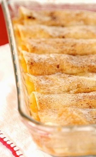 Peach Cobbler Enchiladas
