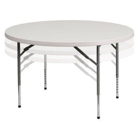 Flash Furniture 48'' Round Folding Table, White