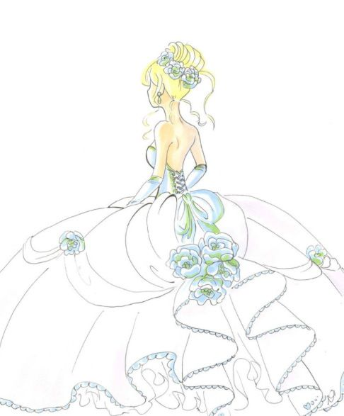 ball gown dress drawings - photo #14